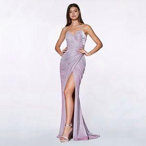 Cinderella Divine Strapless Metallic Dress